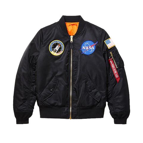 Бомбер Alpha Industries MA-1 NASA W Black (Черный)