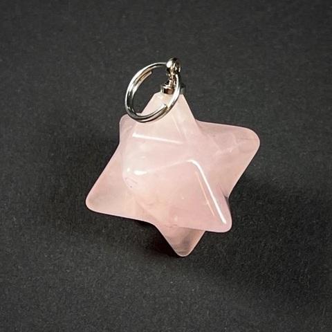 Розовый кварц Меркаба подвеска 20 мм