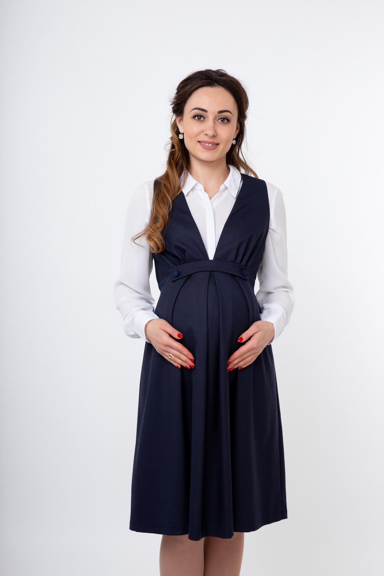 Сарафан для беременных 07666 синий