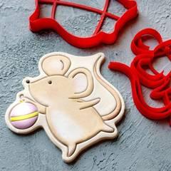 Мышка №11 форма для пряника, мастики, печенья