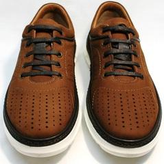 Кроссовки для повседневной ходьбы мужские Vitto Men Shoes 1830 Brown White