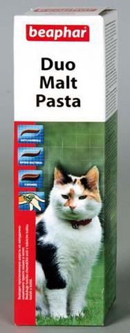 12958 Беафар Мальт-паста Дуо д/кошек двойного действия 100гр*6*54