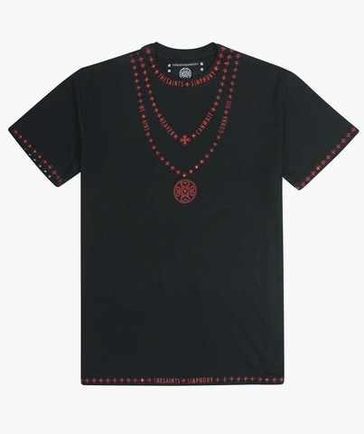 Футболка The Saints Sinphony NECKLACE LOGO BLACK AND RED