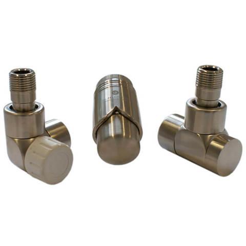 Комплект Lux термостатический Сталь Форма осевая, левый. Для стали GZ 1/2 x GW 1/2