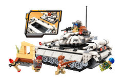Конструктор военный 3206 Танк белый с фигурками 430 дет
