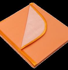 Колорит. Клеенка в коляску ПВХ с окантовкой цветная, оранжевый 50х70 см вид 3