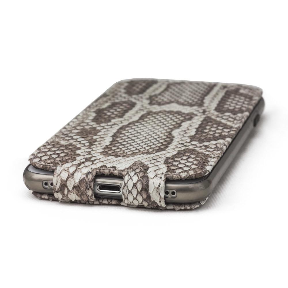Чехол для iPhone 7 Plus из натуральной кожи питона, цвета Natur