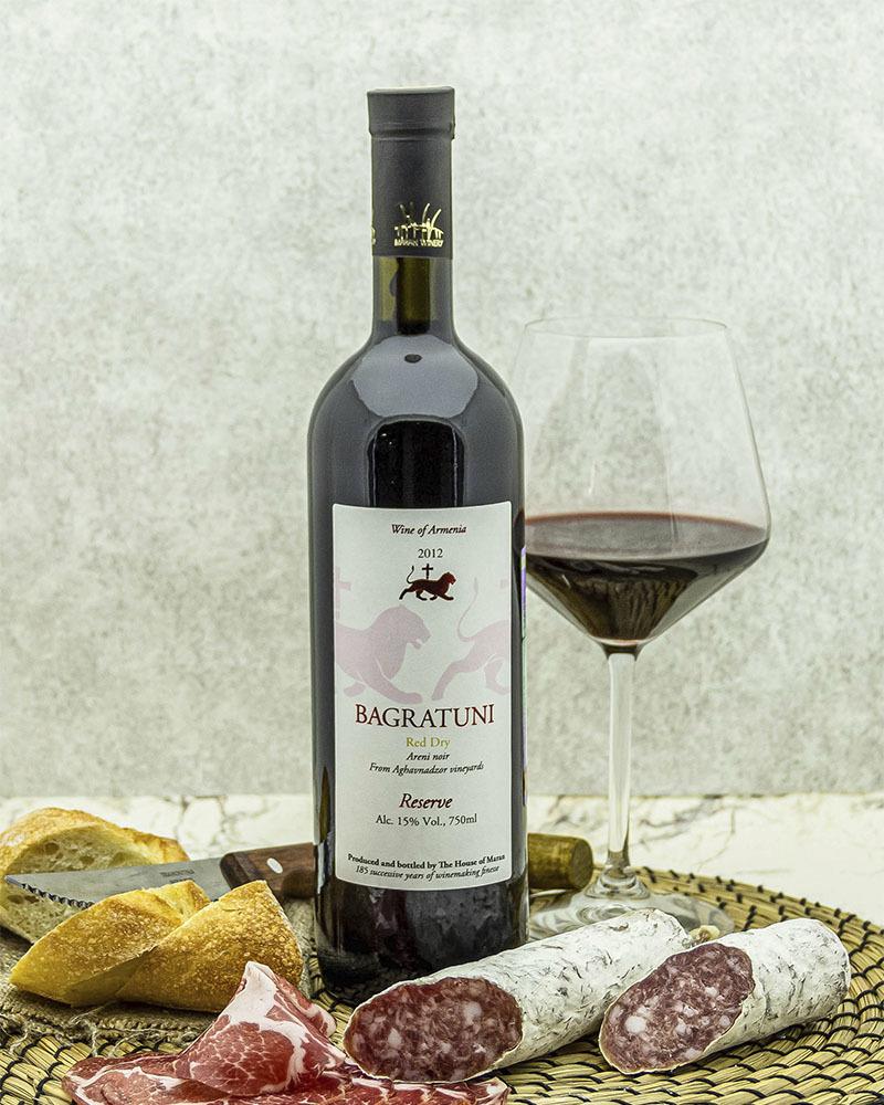 Вино Maran Winery Багратуни Красное Сухое Выдержанное 2012 г.у. 15,0% 0,75 л.
