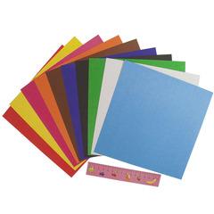 Картон немелованный цветной Каляка-Маляка 200х200 мм, 10 цветов, 10 листов/КЦКМ10/200
