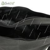 Сумка Саломея 321 флок серый + черный