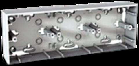 Коробка тройная для открытой установки. Цвет Белый. Schneider electric Unica. MGU8.006.18