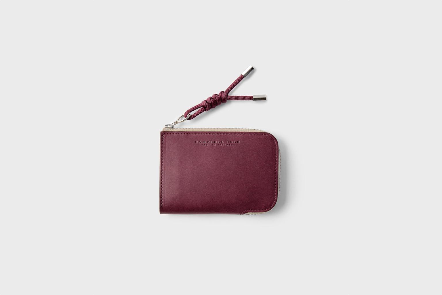 Campbell Cole Simple Zip Corner Wallet Burgundy