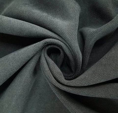 Канвас - ткань для штор - графит. Ширина - 280 см. Арт. 34-2