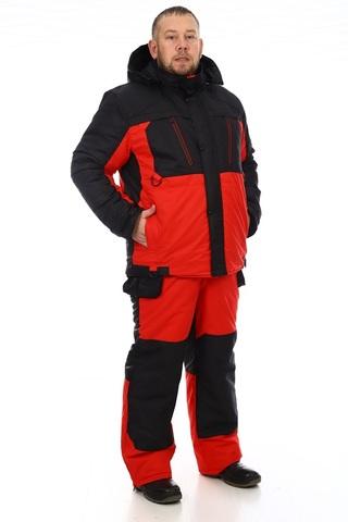Зимний костюм Грант (мембрана черно-красный) -35