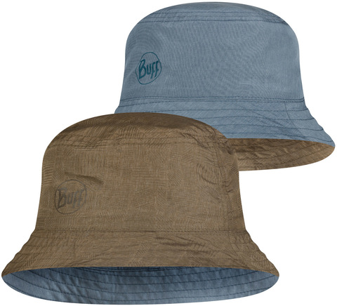 Панама двухсторонняя Buff Travel Bucket Hat Zadok Blue-Olive фото 1