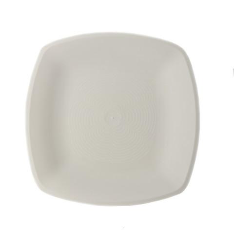 Тарелка одноразовая АВМ-Пластик пластиковая белая 23x23 см 12 штук в упаковке