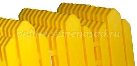 Бордюр Дачник  (16*408) жёлтый, терракот