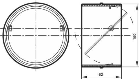 Соединитель-муфта с обратным клапаном 150 мм