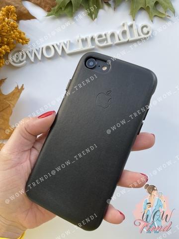 Чехол iPhone 7 Leather Case /black/