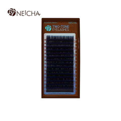 Ресницы NEICHA нейша MIX 16 линий двухцветные черно-синие