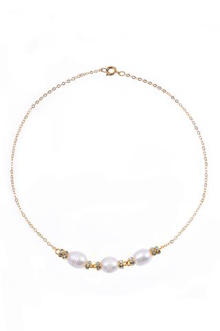 Ожерелье Aurora Ovale золотистое