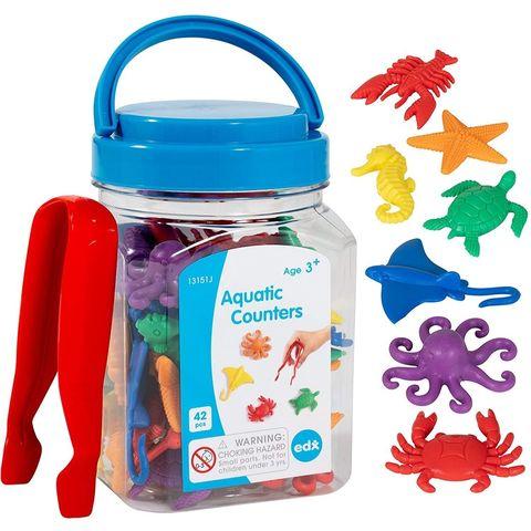 Развивающая игрушка фигурки Морские обитатели (счетный материал, 43 элемента) Edx education, арт.  13151J