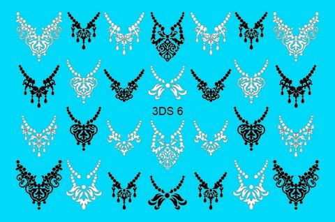 3D слайдер для ногтей со стразами, 3DS- 6