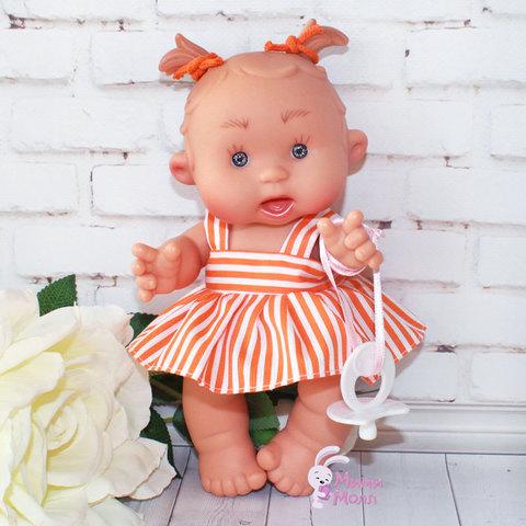 Пупс Nines D'Onil Подружка в оранжевой юбочке 21 см