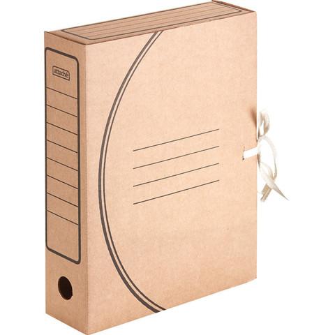 Короб архивный Attache Economy гофрокартон бурый 75x240x320 мм (5 штук в упаковке)