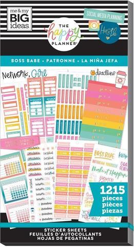 Блокнот со стикерами для ежедневника Create 365 Happy Planner Sticker Value Pack-BIG BOSS BABE - 1215 шт