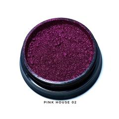 Pink House, Зеркальная втирка №02, (малиновая)