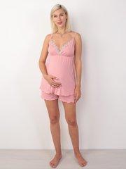 Евромама. Пижама майка и шорты из вискозы, темно-розовый вид 3