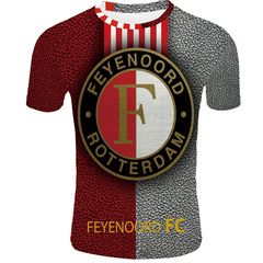 Футболка 3D принт, ФК Фейеноорд  (3Д Feyenoord Rotterdam) 10