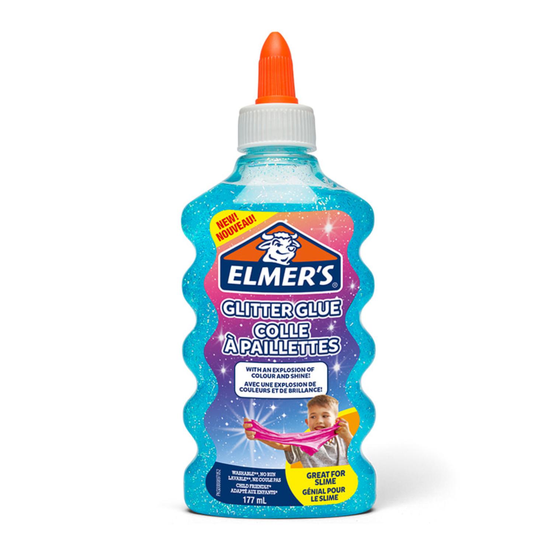 Клей для слайма Elmer's Glitter Glue блестящий голубой 177 мл