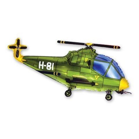 фигура Вертолет зеленый