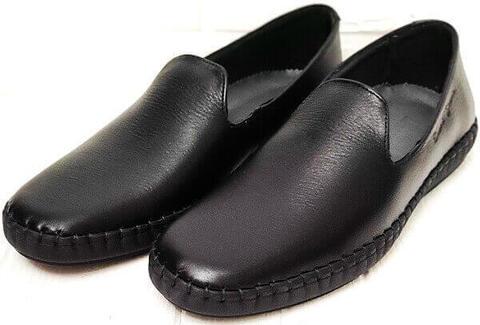 Туфли слипоны мужские стиль кэжуал Broni M36-01 Black.