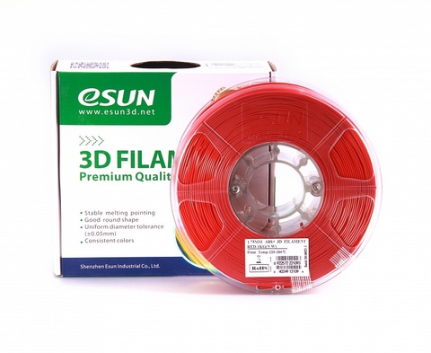 ESUN ABS+ 1.75 мм, 1 кг, красный