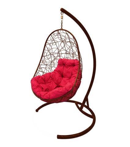 Кресло подвесное Parma brown/crimson