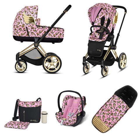 Набор с автокреслом Cybex Priam Lux III By Jeremy Scott Cherubs Pink