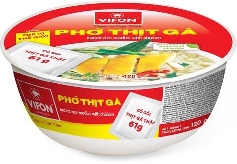 Рисовая лапша-суп Фо Га в тарелке Vifon
