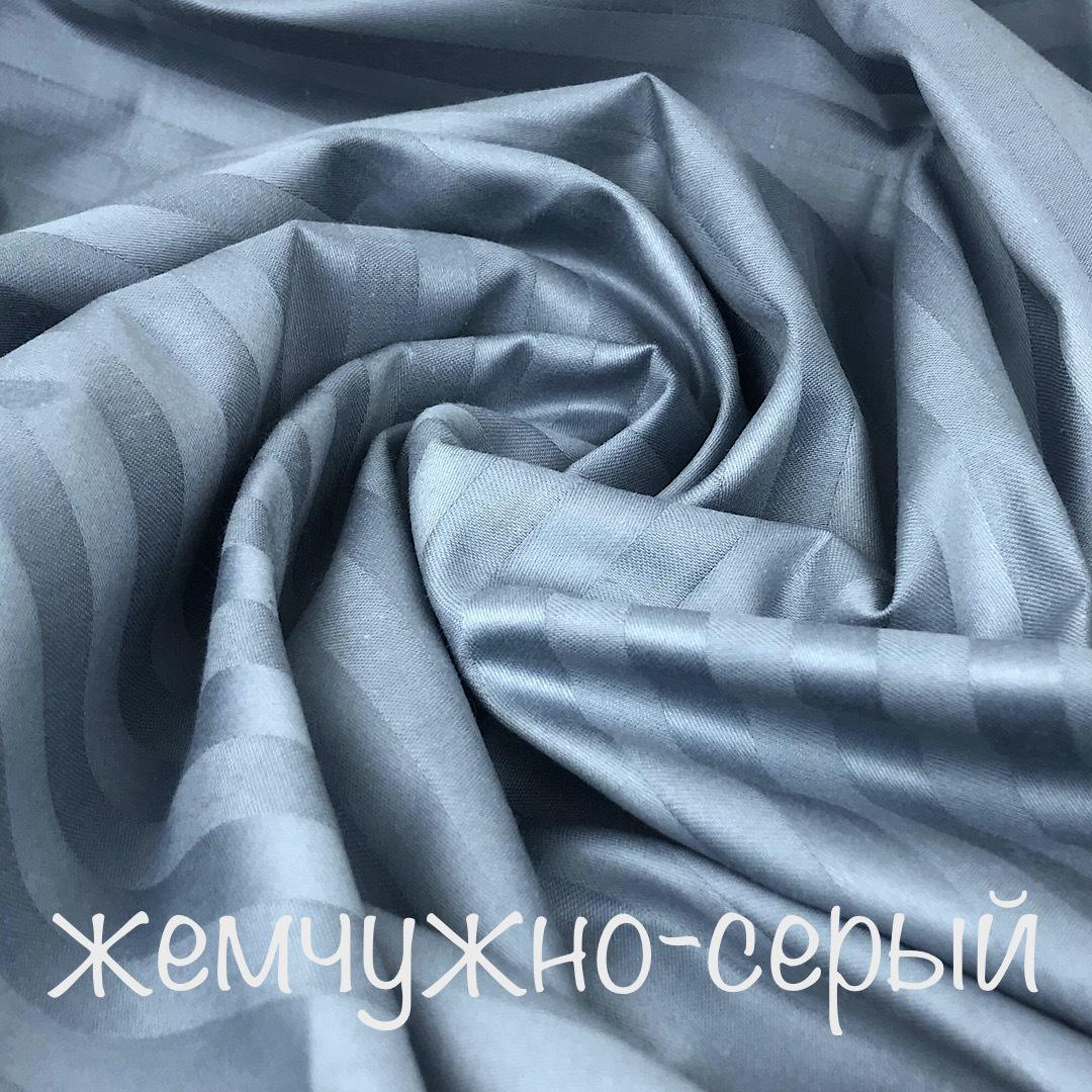 САТИН страйп - простыня на резинке 80х180