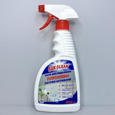 Средство для удаления плесени San Clean Oxygen активный 500 мл, с распылителем