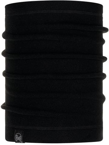 Шарф-труба флисовый Buff Neckwarmer Polar Solid Black фото 1