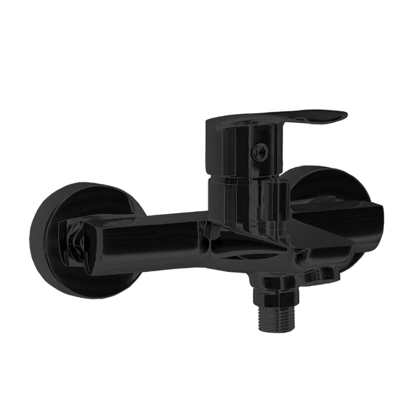Смеситель для ванны с изливом NEW FLY 570502SNM черный