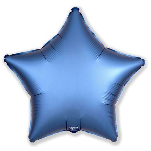 Звезда Стальной Синий Сатин, 45 см