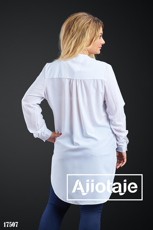 Стильная рубашка с хвостом белого цвета