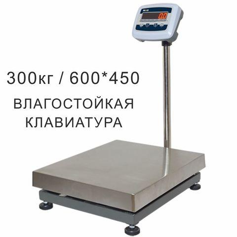 Весы товарные напольные MAS ProMAS PM1E-300 4560, RS232 (опция), 300кг, 50/100гр, 450*600, с поверкой, съемная стойка