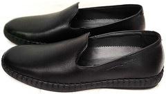 Мужские слипоны туфли полуспортивные Broni M36-01 Black.