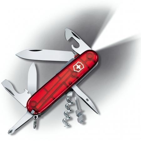 Складной нож Victorinox Spartan Lite с фонариком (1.7804.T) 91 мм., 15 функций, красный полупрозрачный - Wenger-Victorinox.Ru