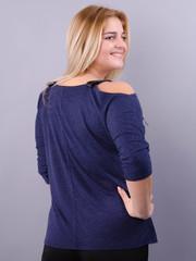Фенікс. Оригінальна блуза для великих розмірів. Синій.